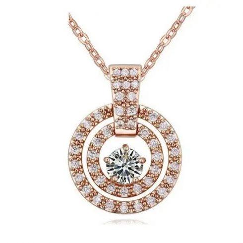 Tripla kör alakú nyaklánc, Rose Gold
