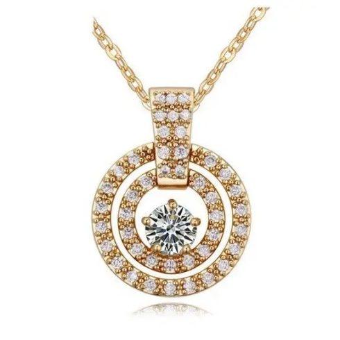 Tripla kör alakú nyaklánc, Pezsgő arany