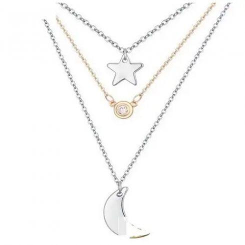 Csillag és hold, tripla nyaklánc