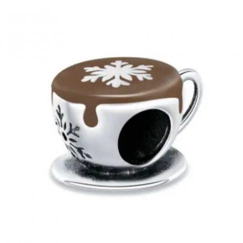 Ezüst charm, kávéscsésze