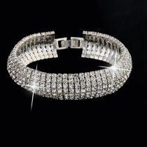Karperec Ausztria kristályokkal, ezüst színben, 19 cm