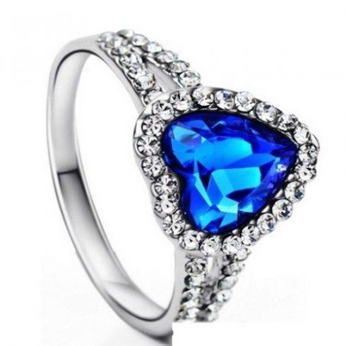 Szív köves gyűrű, 8