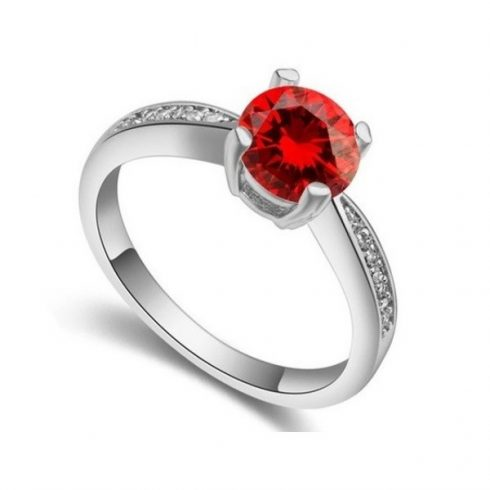 Klasszikus kör alakú köves gyűrű, GAR, 8,5