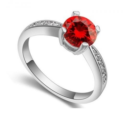 Klasszikus kör alakú köves gyűrű, GAR, 6,5