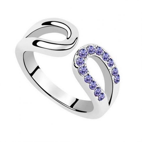 Vízcsepp alakú gyűrű, Tanzanit, 8,5