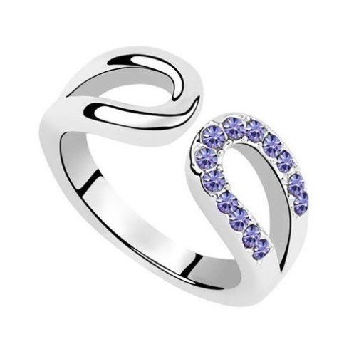 Vízcsepp alakú gyűrű, Tanzanit, 6,5
