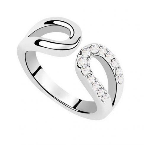 Vízcsepp alakú gyűrű, Kristály, 6,5