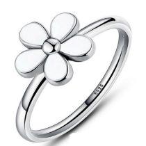 Virág ezüst gyűrű , 8