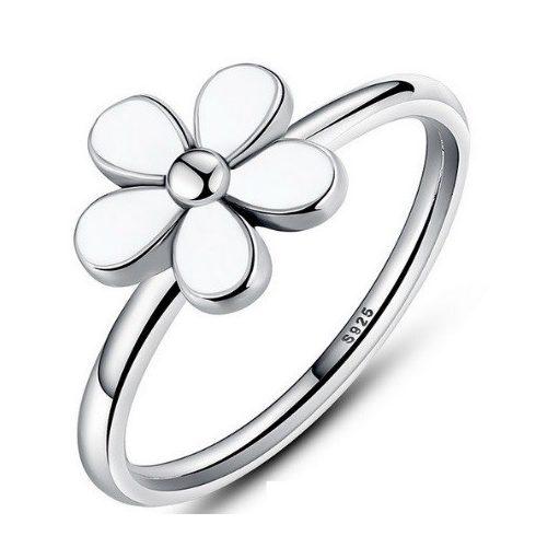Virág ezüst gyűrű , 7