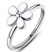 Virág ezüst gyűrű , 6