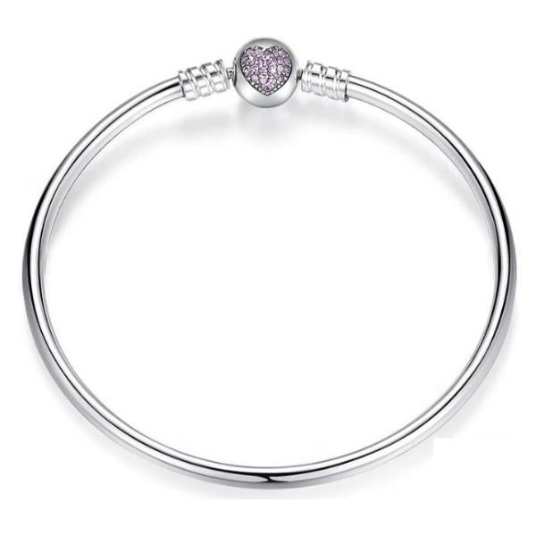 370e26053b Ezüst karperec szív motívummal, 21 cm (Pandora stílus) - Ezüst ...