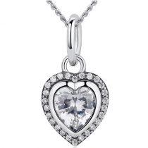 Ezüst nyaklánc szív alakú függővel (Pandora stílus)