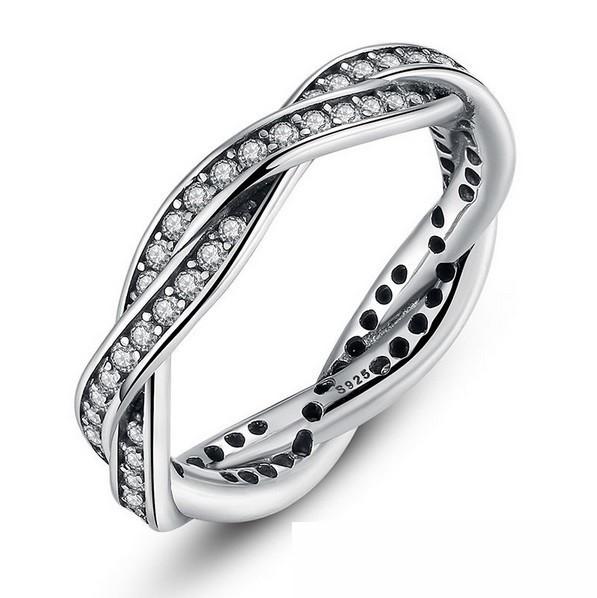87acec3810 Fonott ezüst gyűrű, White, 6 (Pandora stílus) - Ezüst, Swarovski ...