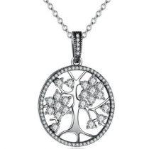 Ezüst életfa nyaklánc (Pandora stílus)
