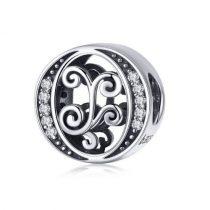 Ezüst O betű medál cirkónium kristállyal