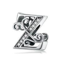 Ezüst Z betű medál cirkónium kristállyal
