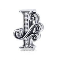 Ezüst I betű medál cirkónium kristállyal