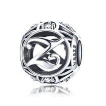 Ezüst Z betű medál kristályokkal