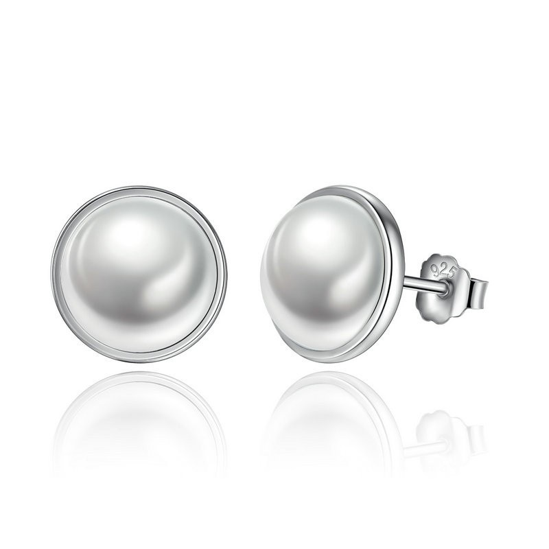 2636d4e1e Ezüst fülbevaló gyöngy berakással (Pandora stílus)