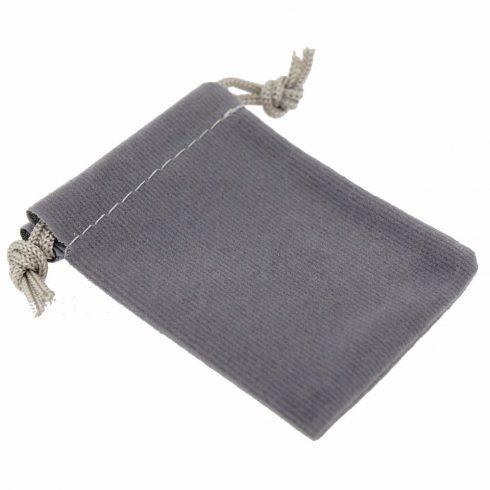 Ékszer zsák, szürke, 9x12 cm