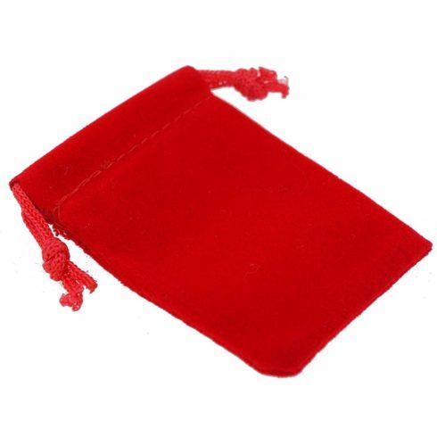 Ékszer zsák, piros, 9x12 cm