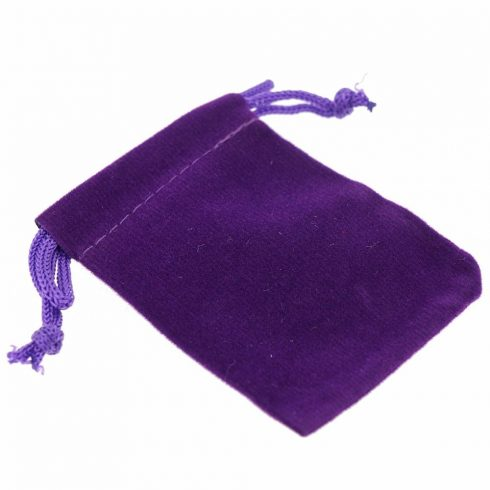 Ékszer zsák, lila, 9x12 cm