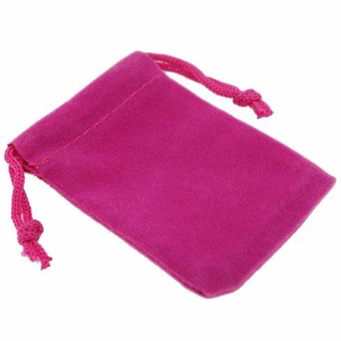 Ékszer zsák, rózsaszín, 9x12 cm