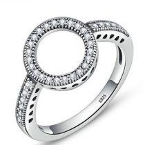 Karika mintás ezüst gyűrű, 8