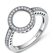 Karika mintás ezüst gyűrű, 7