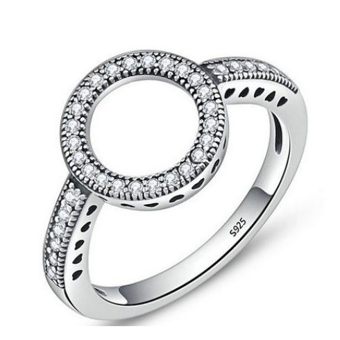Karika mintás ezüst gyűrű, 6