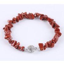 Meditáció karkötő, vörös jáspis