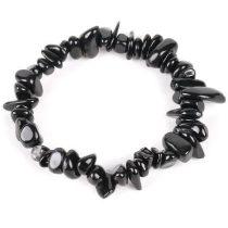 Meditációs karkötő, fekete turmalin