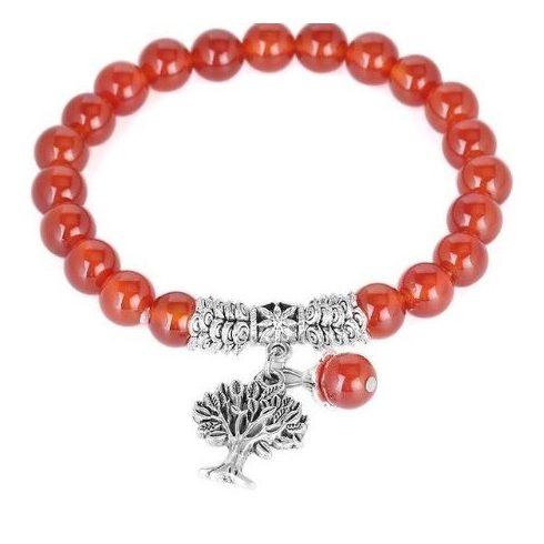 Meditációs karkötő, vörös achát