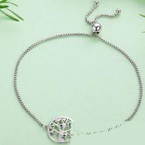 Életfa ezüst teniszkarkötő (Pandora stílus)