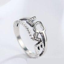Ezüst gyűrű LOVE motívummal, 8-as méret (Pandora stílus)