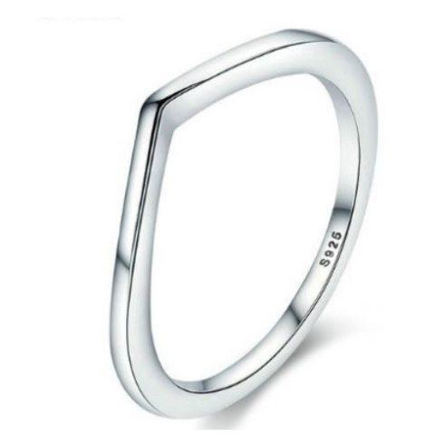 Ezüst gyűrű, szabálytalan forma, 6-os méret (Pandora stílus)