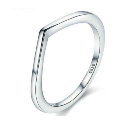 Ezüst gyűrű, szabálytalan forma, 7-es méret (Pandora stílus)