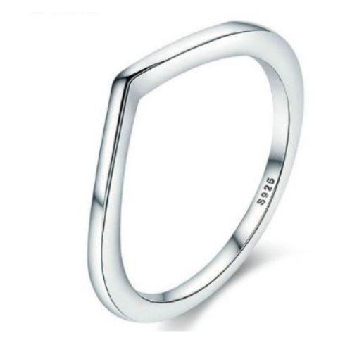 Ezüst gyűrű, szabálytalan forma, 8-as méret