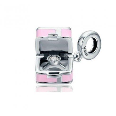 Ezüst ajándékcsomag charm cirkóniumkristállyal -  Pandora stílus