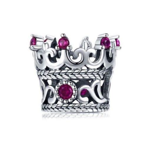 Ezüst korona charm cirkóniumkristállyal -  Pandora stílus