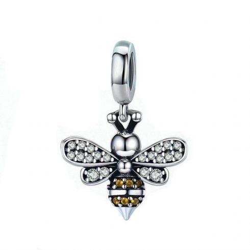 Ezüst méhecske charm cirkóniumkristállyal -  Pandora stílus