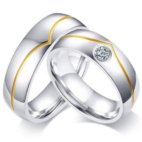 Nemesacél férfi karikagyűrű, 11-es méret
