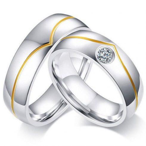 Nemesacél női karikagyűrű, 7-es méret