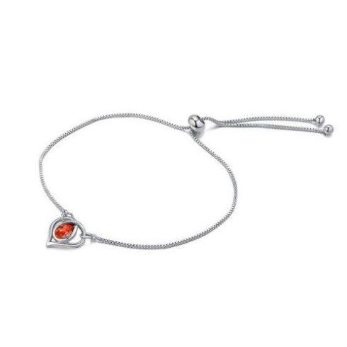 Karkötő Swarovski kristállyal díszített szívvel, piros