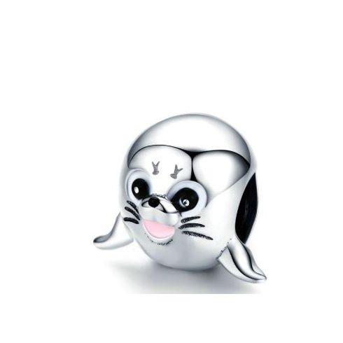Ezüst charm, fóka -  Pandora stílus