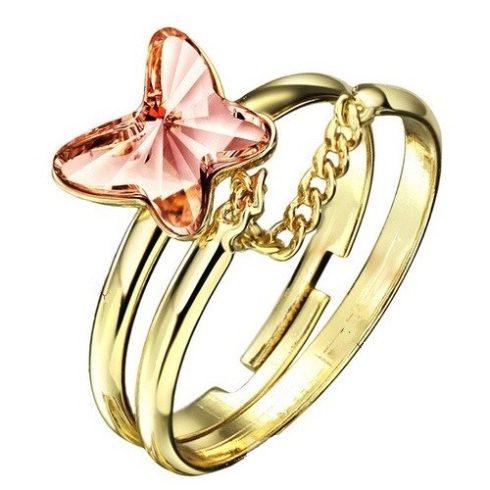 Pillangós dupla gyűrű, Pink