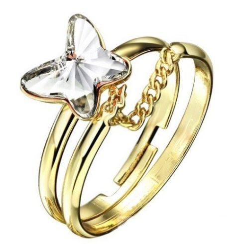 Pillangós dupla gyűrű, Fehér