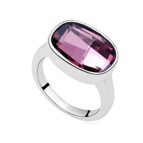 Ovális gyűrű, Crystal ANTP, Swarovski köves