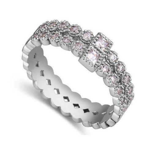 Cirkónia gyűrű, 6,5