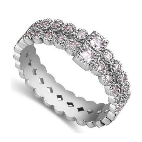 Cirkónia gyűrű, 7,5